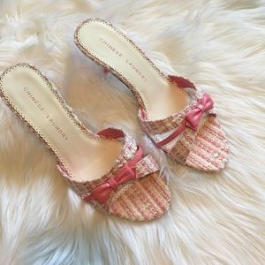 Chinese Laundry Women's Kitten Heel Sandal Pink